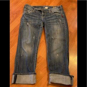 Silver jeans Tuesday Capri size 30